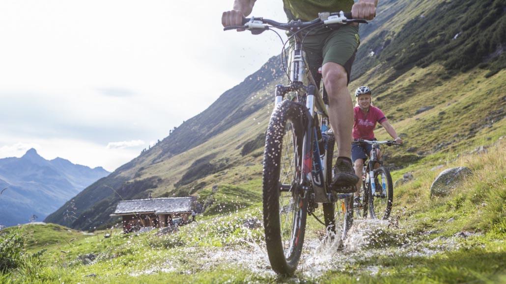 Mountainbiken im hinteren Silbertal