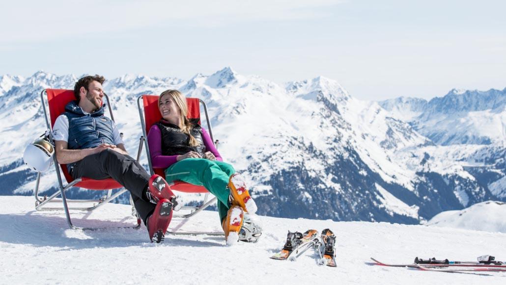 Relaxen im Skigebiet